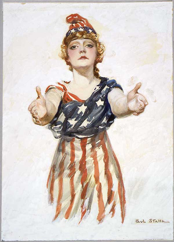 """Be Patriotic,"" a World War I poster designed by the artist Paul Stahr."